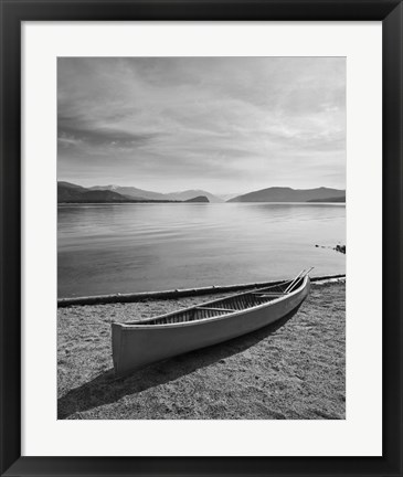Framed Lone Boat Ashore, Canada 99 Print