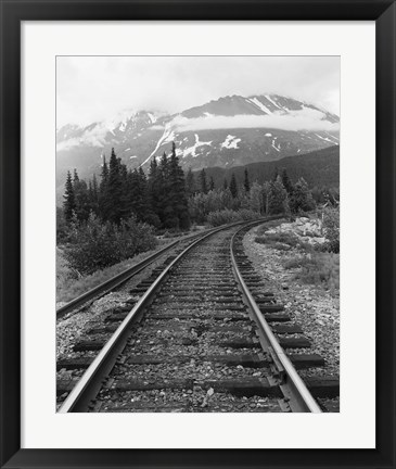 Framed Railroad Tracks, Alaska 85 Print