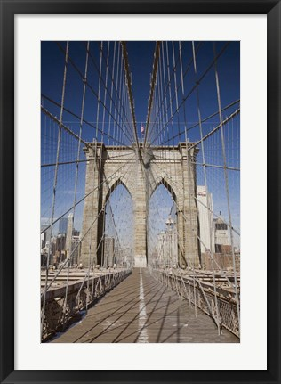 Framed Brooklyn Bridge,  New York City, New York 08 Print
