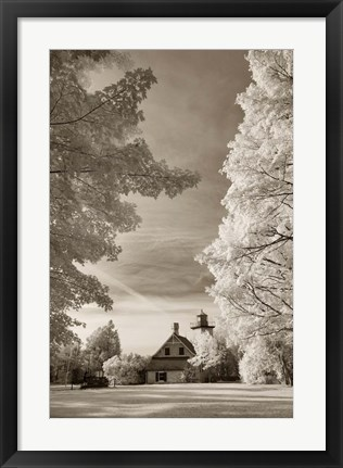Framed Eagle Bluff Lighthouse #2, Door County, Wisconsin 12 Print