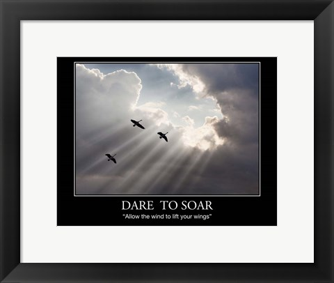 Framed Flying on Sunbeams Print