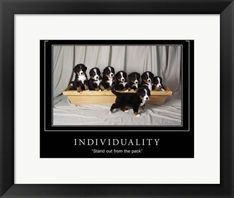 Framed Individuality Motivational Print