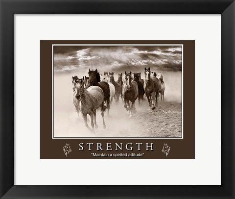 Framed Strength Motivational Print
