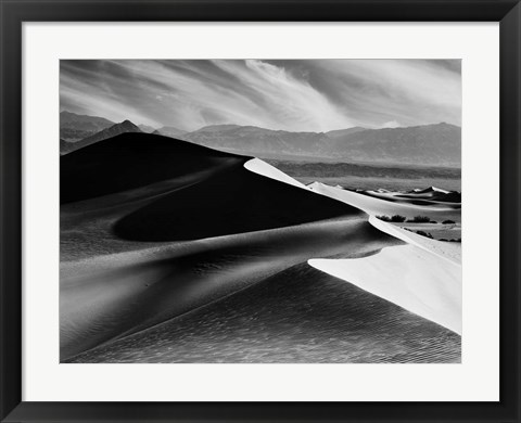 Framed Dunes At Mesquite Flats Print