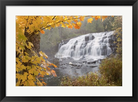 Framed Lower Bond Falls In Autumn #2, Bruce Crossing, MI 11 Print