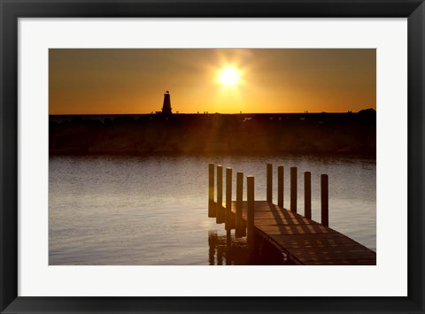 Framed Ludington Sunset, Ludington, Michigan 12 Print
