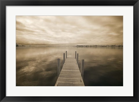 Framed Dock at Crooked Lake, Conway, Michigan 09 Print