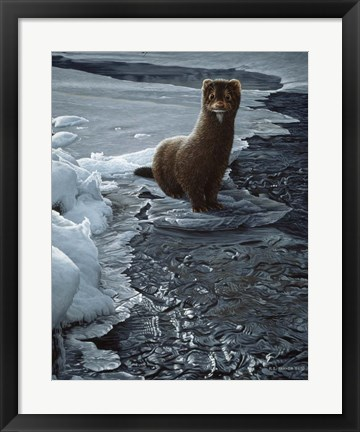 Framed Icy Creek- Mink Print