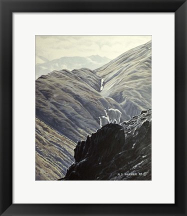 Framed Rock Climbers Print