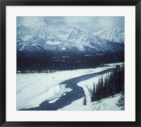 Framed Athabaska Crossing Print