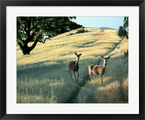 Framed Under The Oak Print