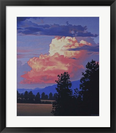 Framed Evening Clouds Print