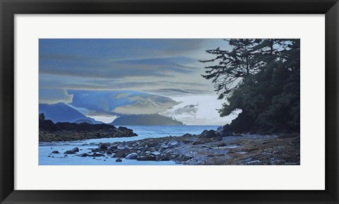 Framed Haida Gwaii Evening Shore Print