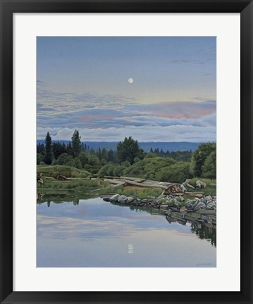 Framed Lunar Reflection Print