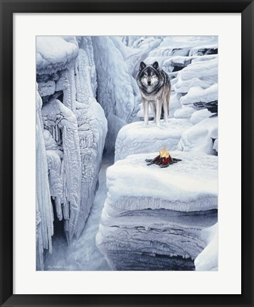 Framed Frozen Waterfall Print