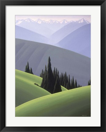 Framed Hurricane Ridge Print