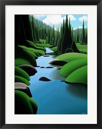 Framed Alpine Stream Print