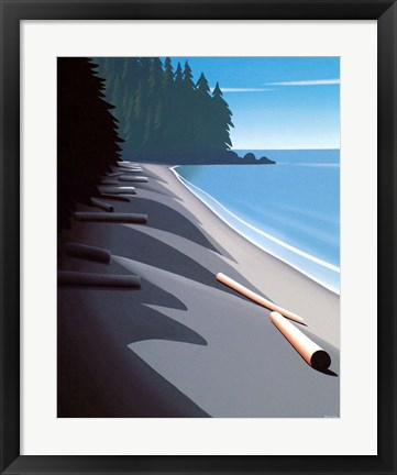 Framed French Beach Print