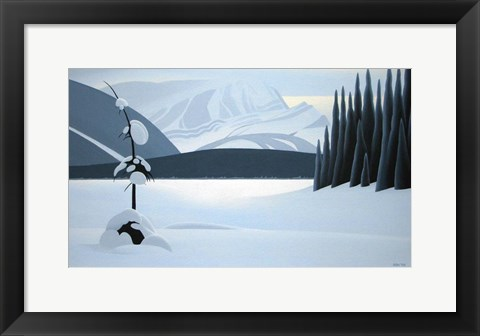 Framed Frozen Lake Print
