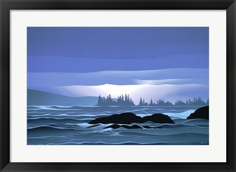 Framed Islands After The Storm Print