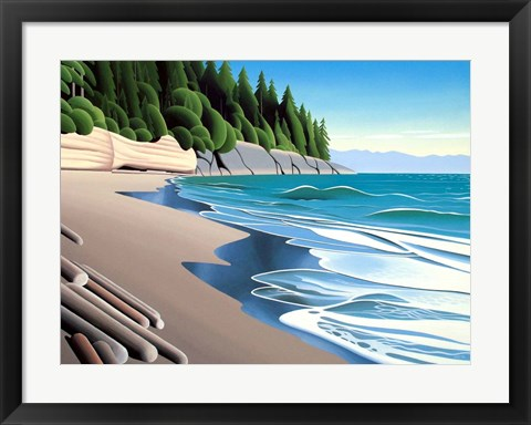 Framed Mystic Beach Afternoon Print