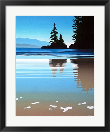 Framed Sand Froth Print