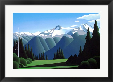 Framed Summer Alpine Print