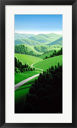 Framed Wine Country Print