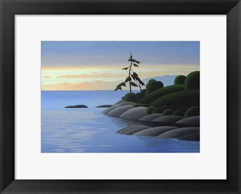 Framed Gonzales Bay Morning Print