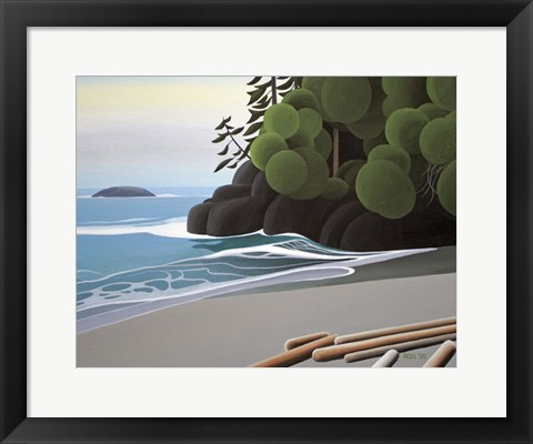 Framed Quiet Surf Print