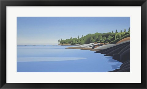 Framed Arbutus Point Evening Print