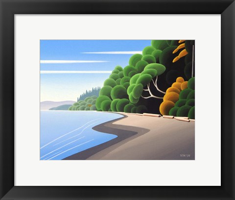 Framed Coastal Autumn Print