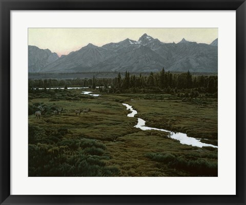Framed Shining River Print