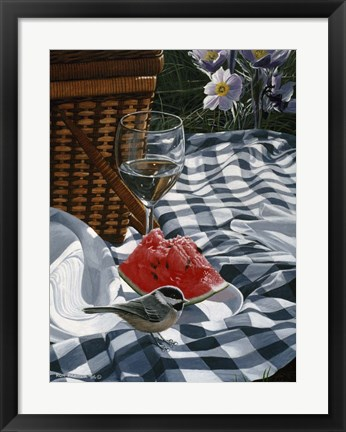 Framed Checkered Cloth Print
