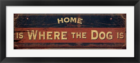 Framed Vintage Signs - Where The Dog Is Print