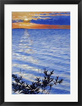 Framed Sunset At Domogo Bay Print