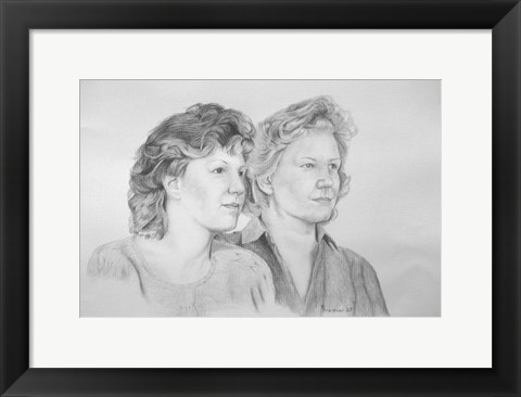 Framed Two Ladies Print