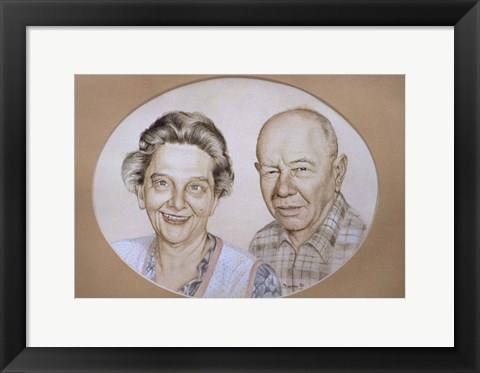 Framed Two Old People Print