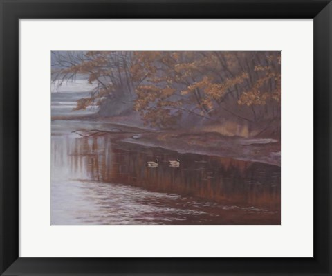 Framed Huron River Geese Print