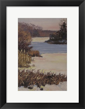 Framed Kent Lake Snow Print