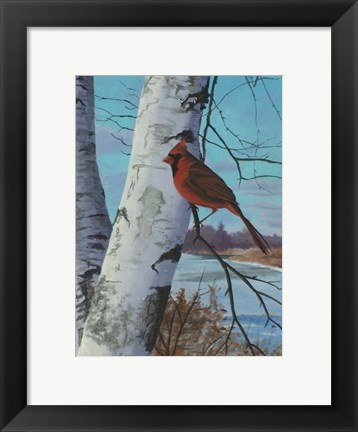 Framed Painting For Red Bird Print