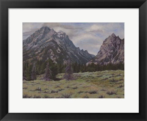 Framed Teton View Print