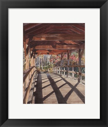 Framed Over the River Print