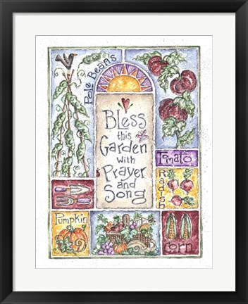 Framed Bless the Garden with Prayer and Song Print