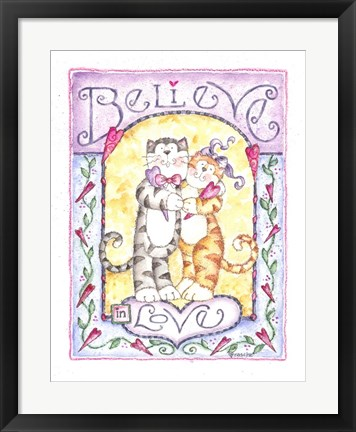 Framed Believe In Love Print