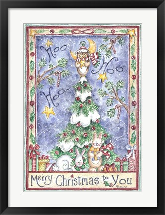 Framed Merry Christmas to You Print