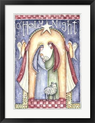Framed O Holy Night Print