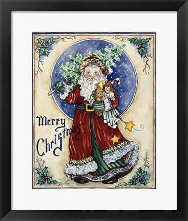 Framed Merry Christmas / St. Nick Print