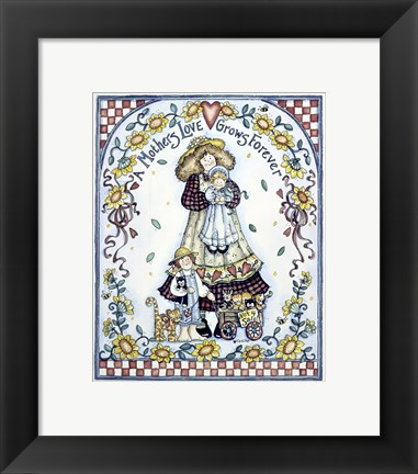 Framed Mothers Love Grows Forever Print