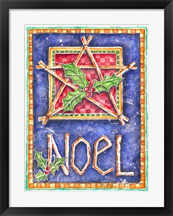 Framed Noel Star Print